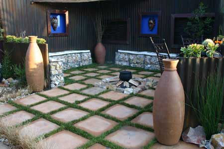Landscaping construction garden landscape paving south for South african garden designs